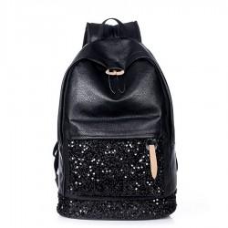 Fondhere Model Black Collar Backpack