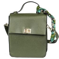 Cotton Model Khaki Green Small Rectangular Shoulder Bag
