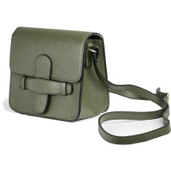 Cotton Model Khaki Green Small Square Shoulder Bag