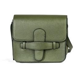 Cotton Model Khaki Green Small Square Shoulder Bag