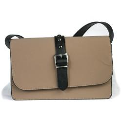 Cotton Model Brown Rectangular Shoulder Bag