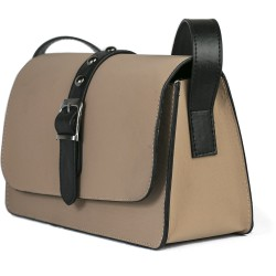 Cotton Model Brown Rectangular Shoulder Bag