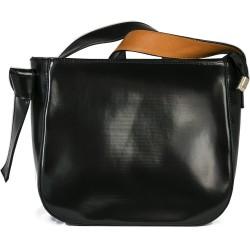 Cotton Model Black Square Shoulder Bag