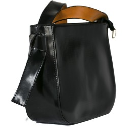 Cotton Model Black Square Shoulder Bag