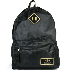 Kings Hill Black Color Fabric Backpack