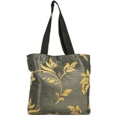 Design Brown Textured Fabric Bag