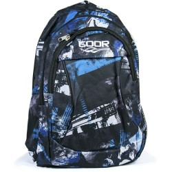Coor Blue Patterned Fabric Backpack