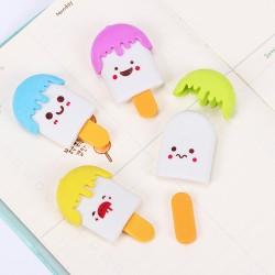 Set of Korean Ice Cream Eraser Set with 2 Ice Cream Figures