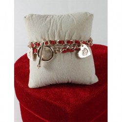 Leather Chain Red Bracelet