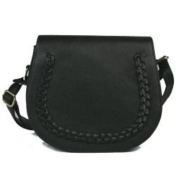 Cotton Model Braided Black Color Shoulder Bag