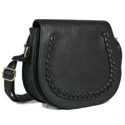 FashionMoon Hair Braided Black Color Shoulder Bag