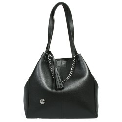 Chain Black Color Shoulder Bag