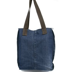 Design Antique Jeans Fabric Tasseled Shoulder Bag