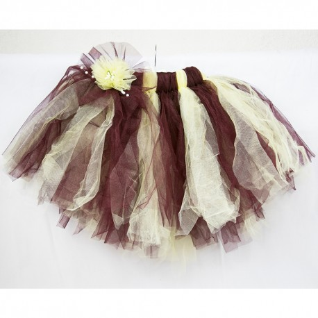 Yellow Brown Children Tulle Skirt