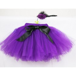 Baby Toe Kit with Purple Skirt with Hair Band