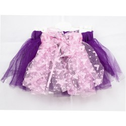 Baby Tull Skirt Purple Color Heart Pattern Tulle