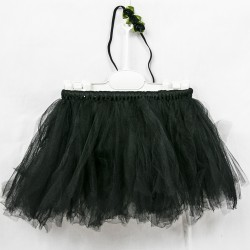 Baby Tulle Set Black Skirt with Hair Band