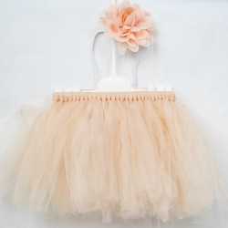 Baby Tulle Set Pubra Pink Skirt Hair Band