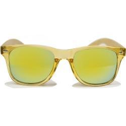 Fashion Moon Bambu Saplı Sarı Top Gun Çerçeve Güneş Gözlüğü