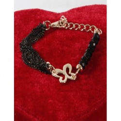 Black Crystal Chain Bracelet