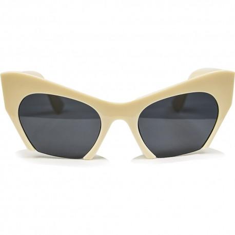 Fashion Moon Tiffany Model Krem Çerçeve Güneş Gözlüğü