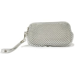 Silver Beaded Small Hand Bag