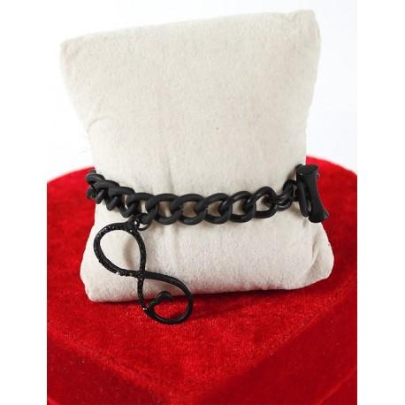Infinity marked Black Bracelet