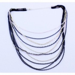 Three Color Chain Necklace