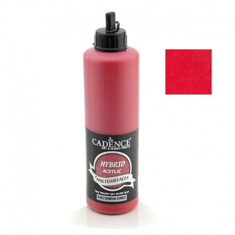 Cadence Hybrid Acrylic Multisulfaces For All Surfaces H-053 Crimson Red For All Surfaces 500ml