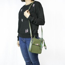 Fashion Moon Khaki Green Small Rectangular Shoulder Bag