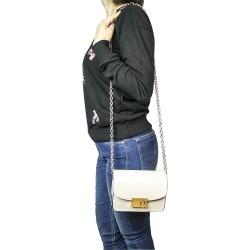 Koton Model Çiçekli Krem Rengi Küçük Kare Omuz Çantası