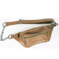 Waist Bag Chain Model Light Brown