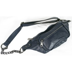 Waist Bag Chain Model Navy Blue Color