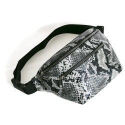 Waist Bag Brown Snake Patterned Model
