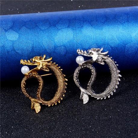 FashionMoon Dragon Brooch Lapel Pin