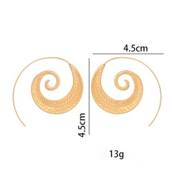 Spiral Leaf Model Earrings