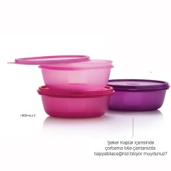 Tupperware Şekerpare Üçlü 600ml
