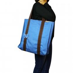 Design Kot Kumaştan Front Bowl Shoulder Bag