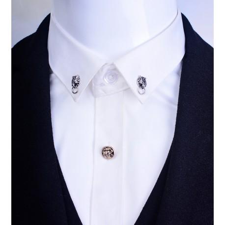 FashionMoon Wolf Head Small Model Collar Pin