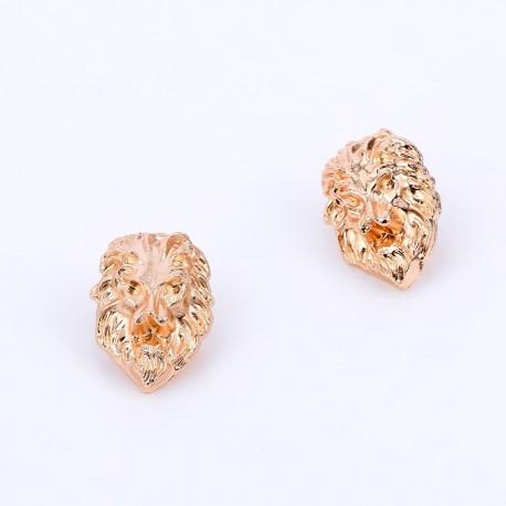 ashionMoon Lion Head Collar Pin
