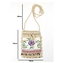 Design Handmade Pink Beaded Antique Sewn Pouch