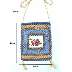 Design Handmade Blue Color Antique Crossbag