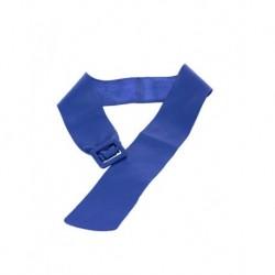 Mango Blue Leather Belt