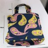 Design Pink and Yellow Shawl Patterned Jeans Bag 3