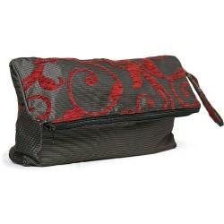 Fabric Hand Bag Red Patterned Envelope Model