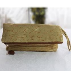 Design Yellow Fabric Envelope Model Handbag