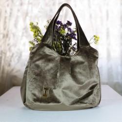 Design Velvet Brown Bag