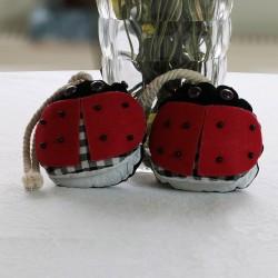 We Pufi Ladybug Shaped Keychain