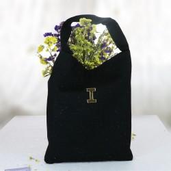 Siyah Renk Pırıltılı Kot Çanta