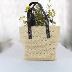 Handmade Mercerized Summer Cream Color Bag